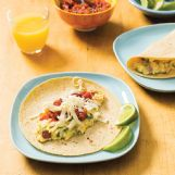 These breakfast tacos are something you can let the kids help prepare.