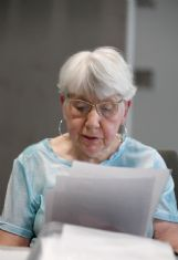 Dorris Brown, 76, reads her short story