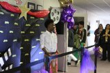 Columbus Middle School student Michael Balthazar walks the red carpet at Brandon Central Office in Columbus Wednesday afternoon before the Columbus premiere of the film
