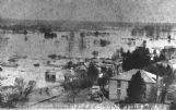 A view from the old Gilmer Hotel looking toward the present day soccer complex during the 1892 Tombigbee flood at Columbus.