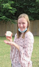 Staff Eliza Boyd originally started making goat milk soap a year ago, because she had read it soothed eczema and her seven-year-old sister has eczema.