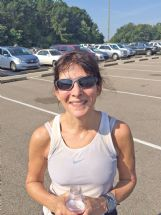Jamie Nettles, of Columbus, competed in her first triathlon Saturday.