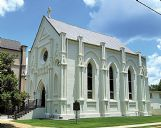 Annunciation Catholic Church in Columbus was constructed in 1863 as a scaled-down version of Paris' medieval Sainte-Chapelle which had been built in 1248 to house the Crown of Thorns and other holy relics that were saved last week from the fire at Notre Dame.