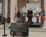 Columbus Municipal School District board of trustees president Jason Spears speaks during Friday's Franklin Academy bicentennial celebration. Chartered on Feb. 10, 1821, Franklin Academy is the oldest public school in the state of Mississippi.