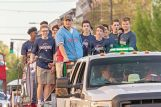 The Heritage Academy boys, who won the first Overall State Championship in school history, rejoiced with a ride in Tuesday's parade.