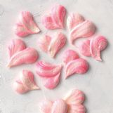 Pretty marbled meringue hearts are light as air and take about 45 minutes to make.