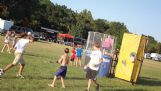 Kids cool off at a dunking booth at a previous Roast-n-Boast. The dunking booth returns to the fairgrounds this year, on Aug. 25.