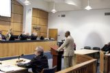 Columbus Chief Financial Officer Milton Rawle, standing, appears before the city council Dec. 4 at the Muncipal Complex. The council suspended Rawle for 16 working days, without pay, for failing to provide city officials a clear picture of the city's financial status in a timely manner. The city operated at a near $881,000 deficit in Fiscal Year 2018.
