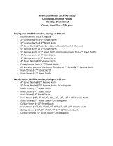 List of Street Closures