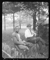 John Lomax recording Richard Amerson, a Livingston, Alabama blues singer in 1940. Amerson, a former Alabama River roustabout, was