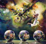 In Brent Funderburk's earlier painting