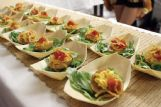 These smoked deviled eggs with crispy onion straws, cheddar cheese, green onions and sauce, by Chef Jacob Burrell of Bulldog Burger Company, were among specialties at the 2018 Starkville Area Arts Council Forks & Corks fundraiser. This year's event begins at 6:30 p.m. Saturday at The Mill in Starkville.