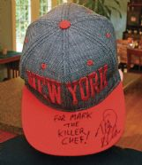 """""""Chopped Junior� and """"Chopped� television show host Ted Allen autographed the signature cap Mark wore during the competition."""