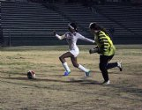Columbus High School sophomore Johnasia O'Neal (7) outstrips the West Point goalkeeper for her third goal of the first half Thursday in West Point. She finished with seven goals in an 8-0 win for the Falcons.