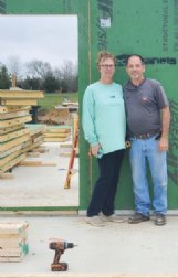 Mavis and Victor Unruh are pictured Wednesday on the site of their new home build.