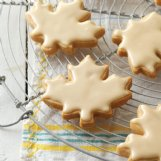 Glazed maple shortbread cookies are an elegant sweet for any fall occasion.
