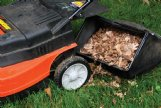Shred and collect fall leaves with every pass of the mower. Then place a layer in flower beds to insulate perennial plant roots, conserve moisture, suppress weeds and improve the soil as it breaks down.