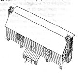 A reconstruction of Dr. B.C. Barry's 1824 house by the late Sam Kaye based on invoices for building materials in Barry's estate file in the Billups-Garth Archives in the Columbus Lowndes Public Library.