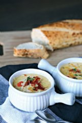 A hearty and cheesy German potato soup can chase away the chill.