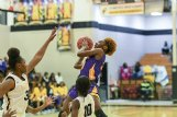 Mississippi Gulf Coast Community College commit Aniya Saddler is the leading scorer for Columbus and might just be the newest star for the Falcons.