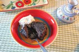 This chocolate cobbler is decadently rich, with a satisfying crunchy surface covering a moist cake beneath.