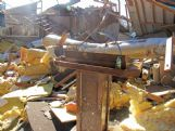 Often in great storms, what's left undisturbed is as remarkable as what was destroyed. While most of First Pentecostal Church was turned into a pile of rubble by Saturday's tornado, a small bottle of anointing oil sitting on a wood pulpit was left unmolested.